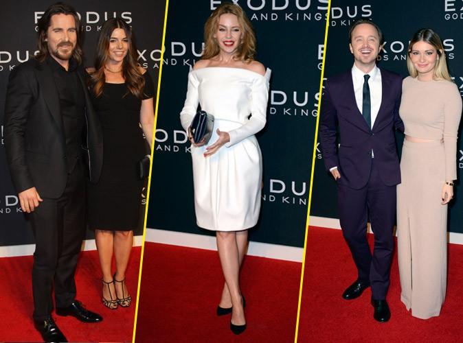Photos : Christian Bale, Kylie Minogue, Aaron Paul … du beau monde pour la première d'Exodus !