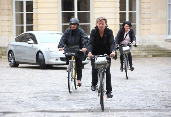Christiane Taubira à la sortie de Matignon le 25 août 2014