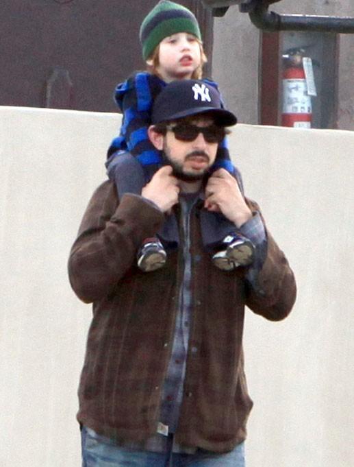 Jordan, l'ex-mari de Christina, et leur fils Max