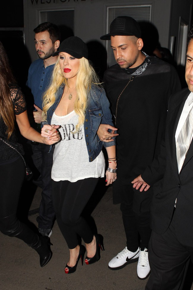 Christina Aguilera à Los Angeles le 22 septembre 2014