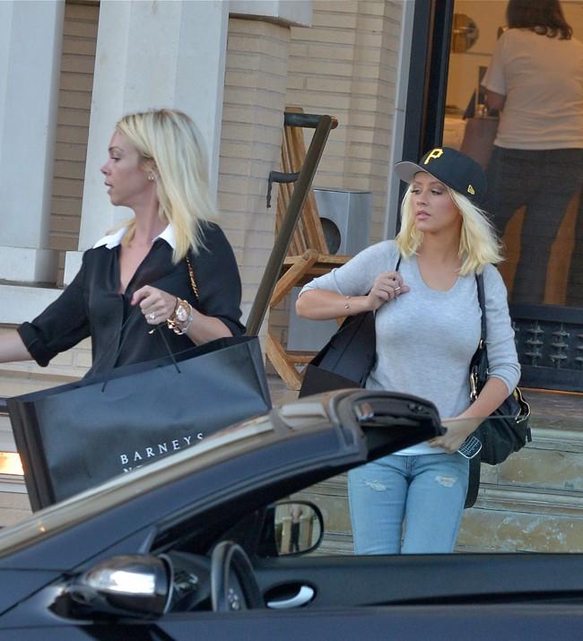 Christina Aguilera à Beverly Hills le 8 août 2013