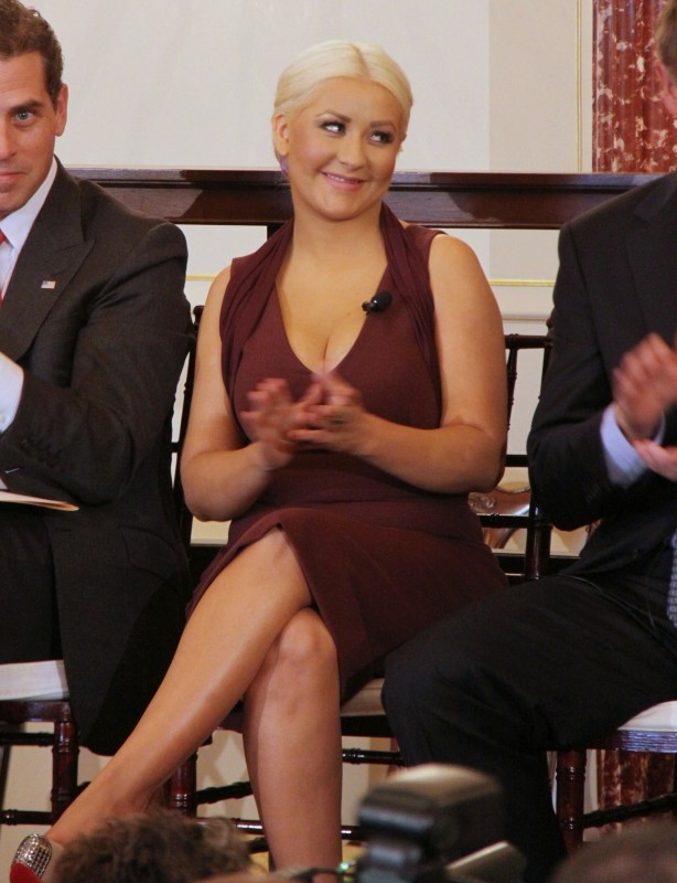 Christina Aguilera lors de la cérémonie 2012 du prix George McGovern Leadership Award à Washington DC, le 3 octobre 2012.