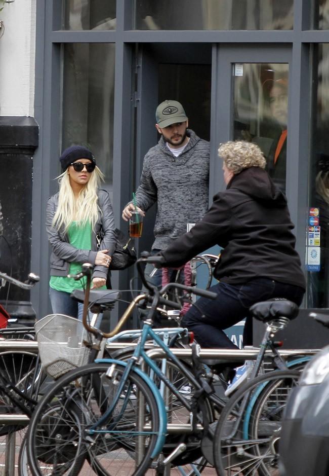 Christina Aguilera et Matt Rutler à Amsterdam le 24 juin 2013