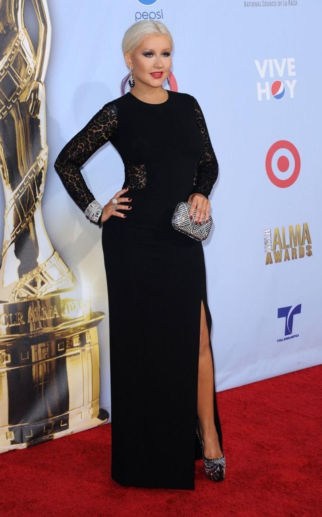 Christian Aguilera lors des ALMA Awards 2012 à Pasadena, le 16 septembre 2012.