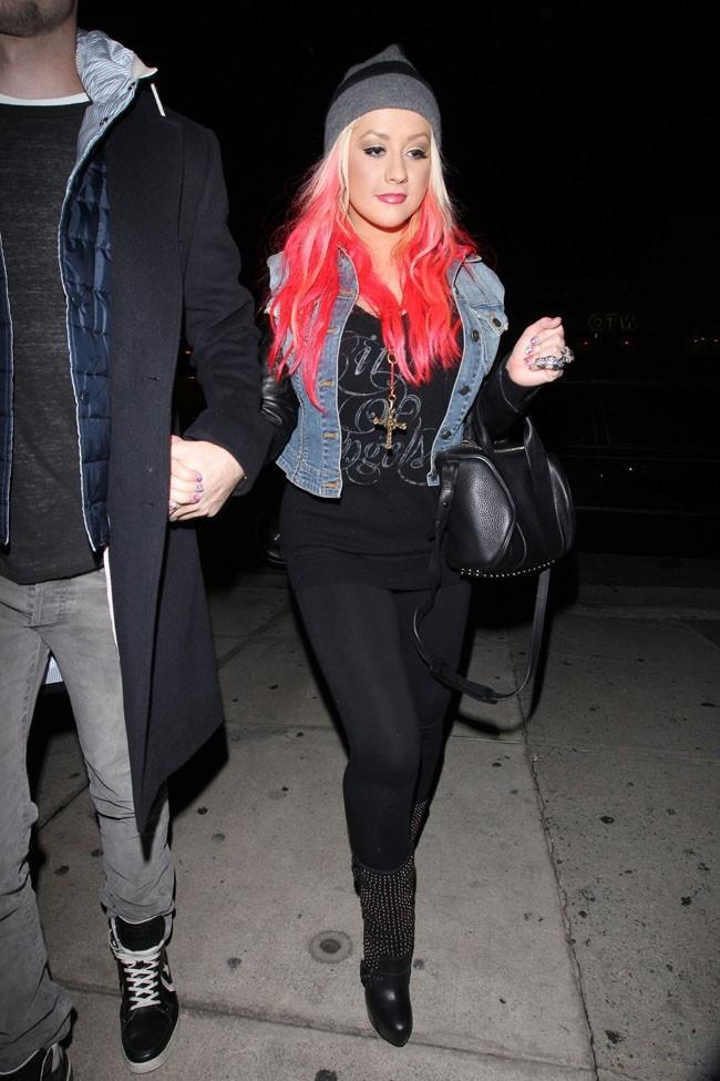 Christina Aguilera à Los Angeles avec son boyfriend Matt Rutler le 20 octobre 2012