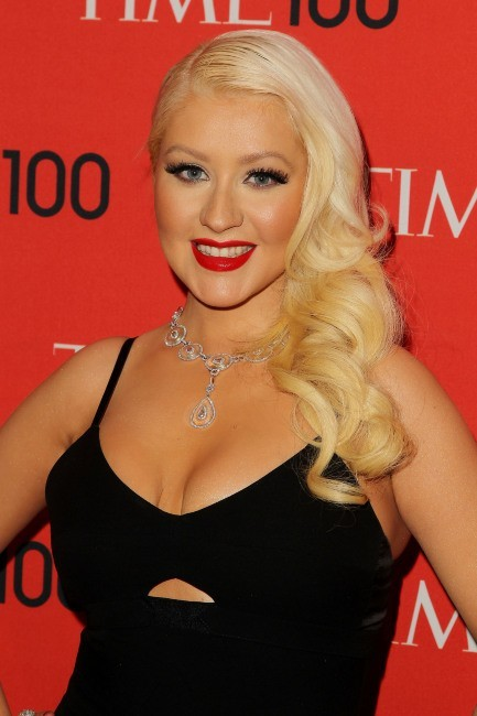 "Christina Aguilera lors de la soirée ""2013 Time 100 Gala"" à New York, le 23 avril 2013."