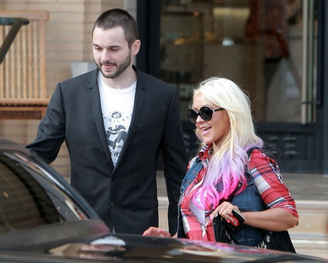 Christina Aguilera à Los Angeles le 9 octobre 2012