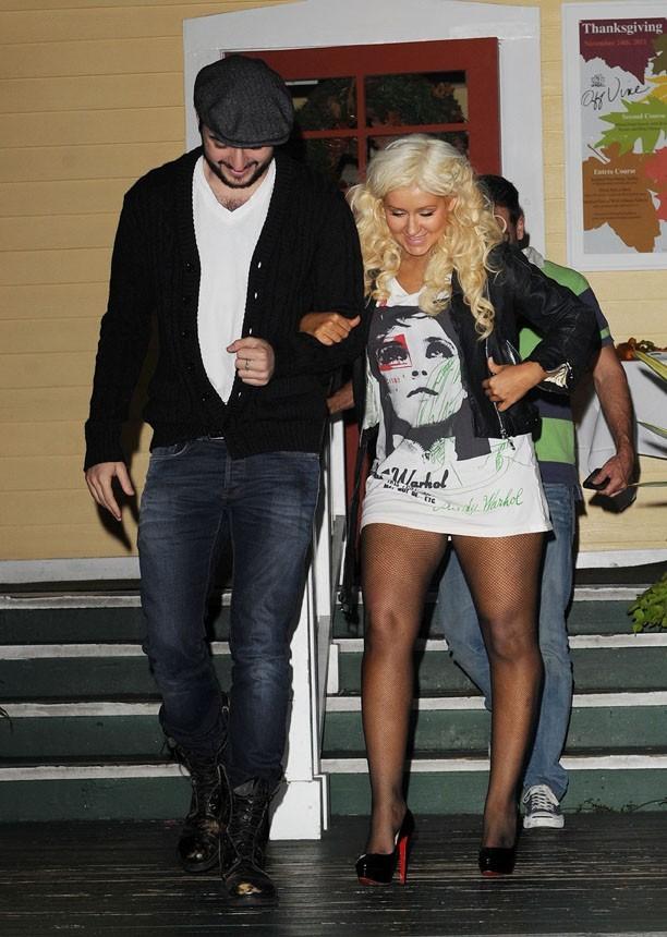 Christina Aguilera et Matt Rutler hier à Los Angeles !