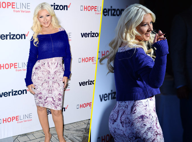 Christina Aguilera s'amuse devant l'objectif