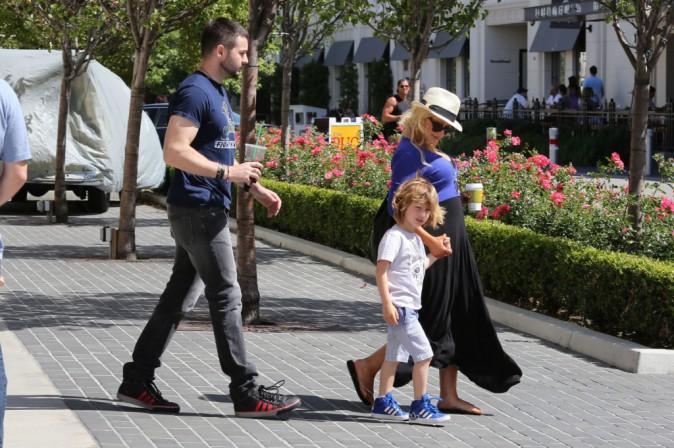 Christina Aguilera en famille à Los Angeles, le 11 mai 2014.
