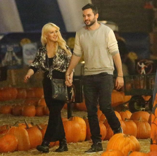 Christina Aguilera et Matt Ruler à Los Angeles le 24 octobre 2014