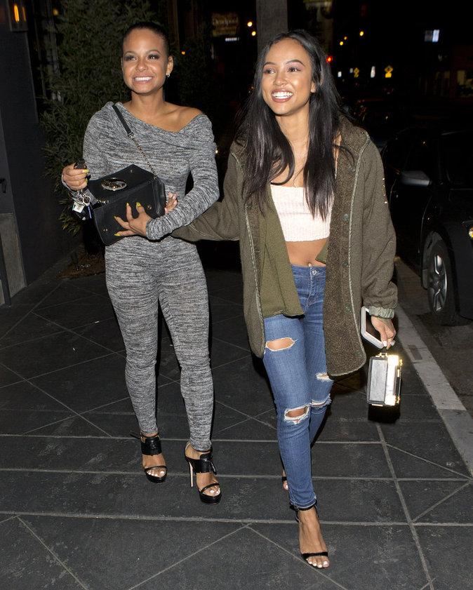 Christina Milian et Karrueche Tran se sont rendues dans un club de Los Angeles