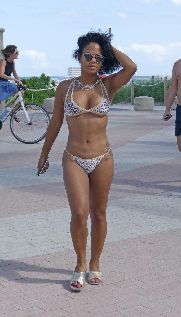 Christina Milian à Miami le 4 octobre 2015