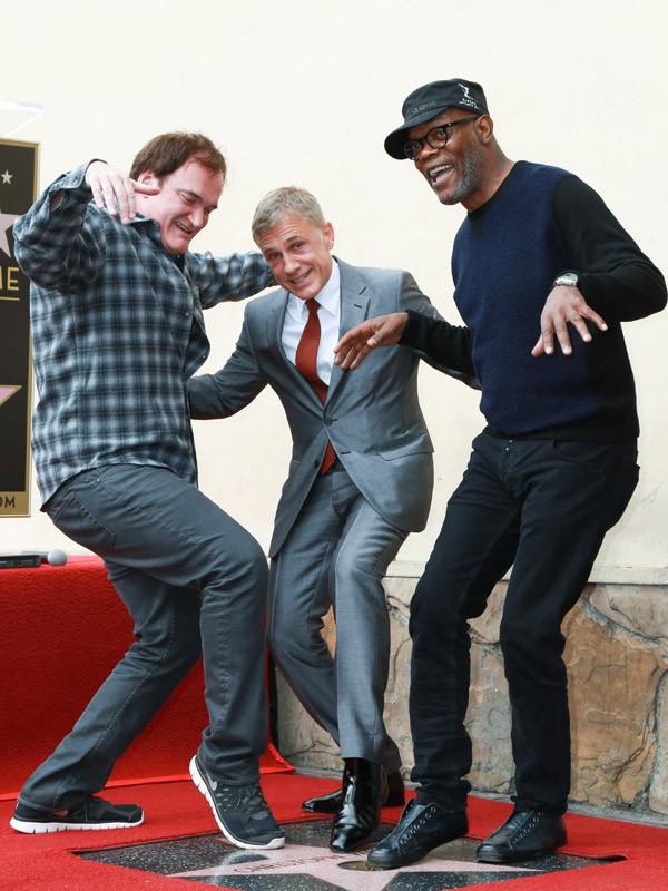 Christoph Waltz avec Quentin Tarantino et Samuel L. Jackson