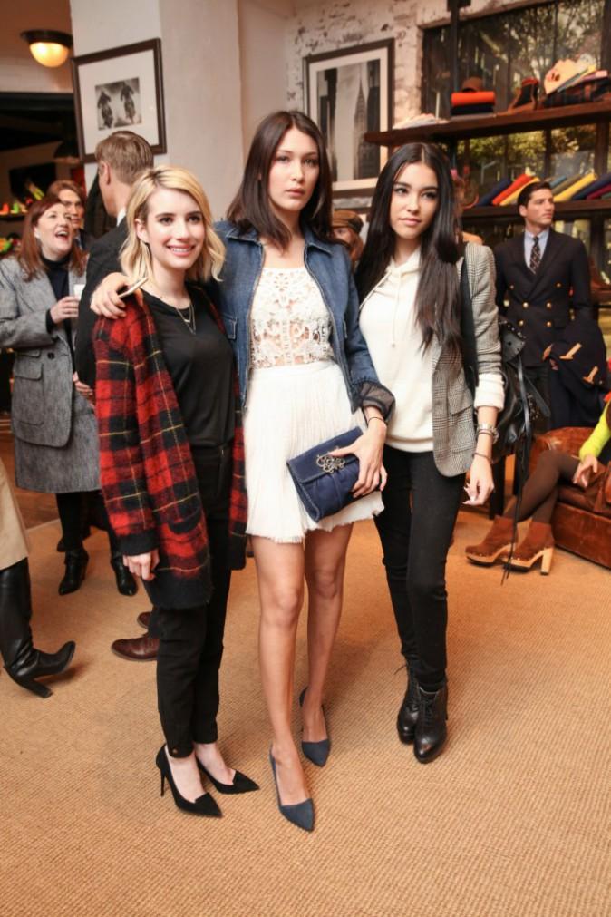 Bella Hadid et Emma Roberts le 12 février 2015