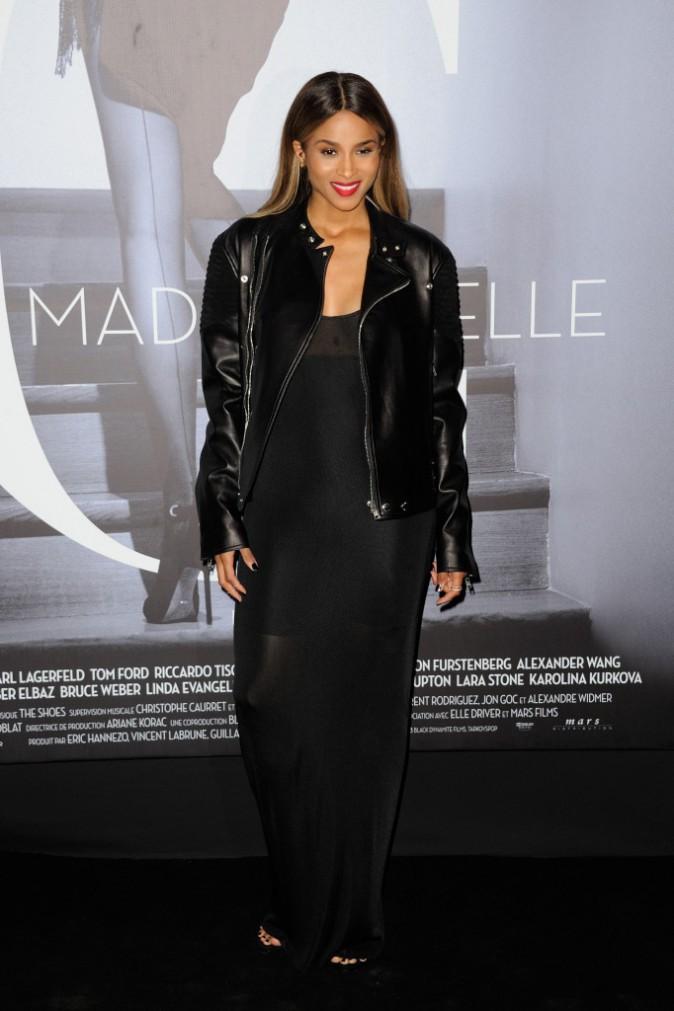 """Ciara lors de la première du documentaire """"Mademoiselle C."""" à Paris, le 1er octobre 2013."""