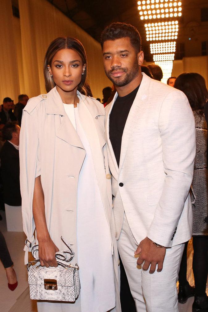 Ciara et Russell Wilson : inséparables au défilé Lanvin