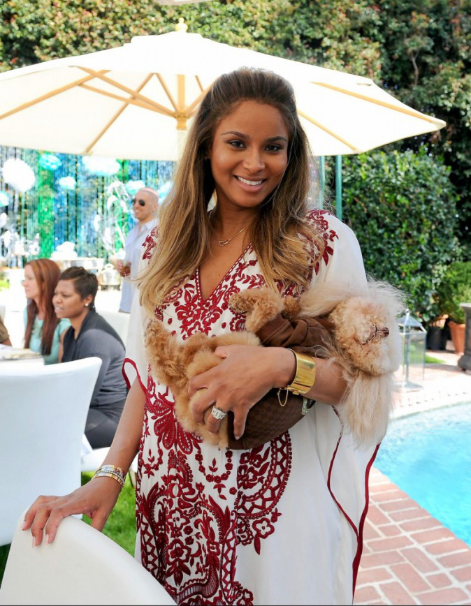 Ciara lors de sa baby shower à West Hollywood, le 22 mars 2014.