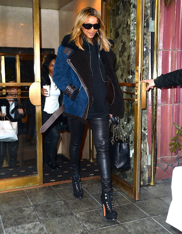 Ciara à New-York le 15 janvier 2014