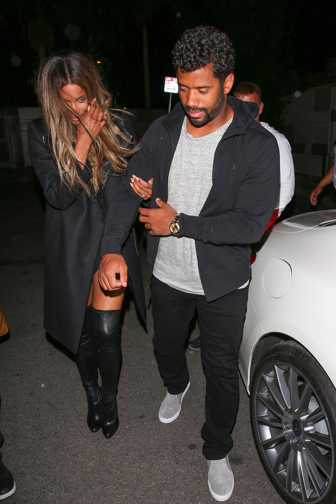 Ciara et Russell Wilson devant Nice Guy L.A.