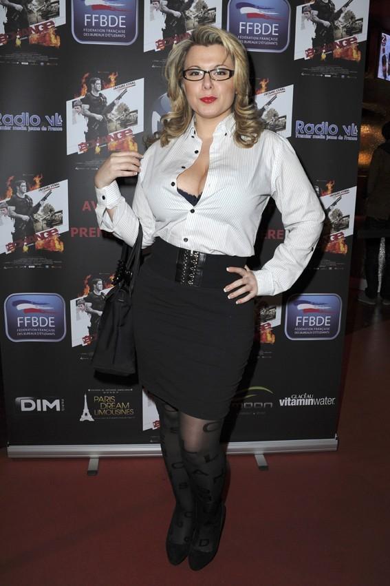 Cindy Lopes à l'avant-première du film L'Echange à Paris le 24 janvier 2013