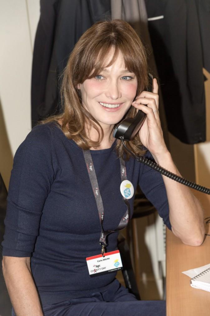Carla Bruni à Paris le 11 septembre 2015