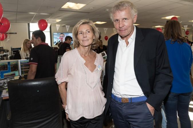 Claire Chazal et PPDA à Paris le 11 septembre 2015