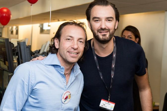 Philippe Candeloro et Cyril Lignac à Paris le 11 septembre 2015