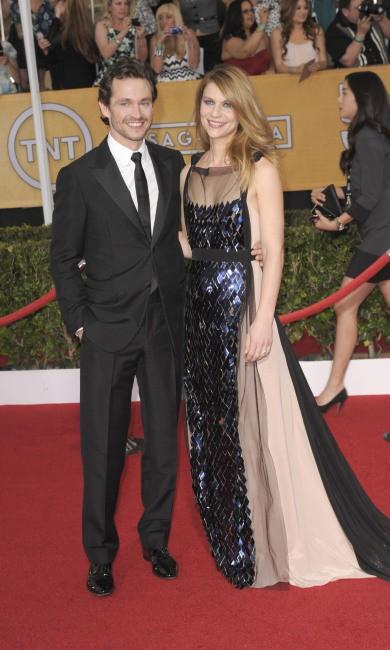 """Claire Danes et son mari Hugh Dancy lors des """"SAG Awards"""" à Los Angeles, le 19 janvier 2014."""