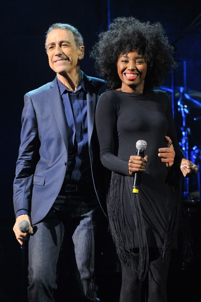 Alain Chamfort et Inna Modja le 30 janvier 2013 au Grand Rex, à Paris