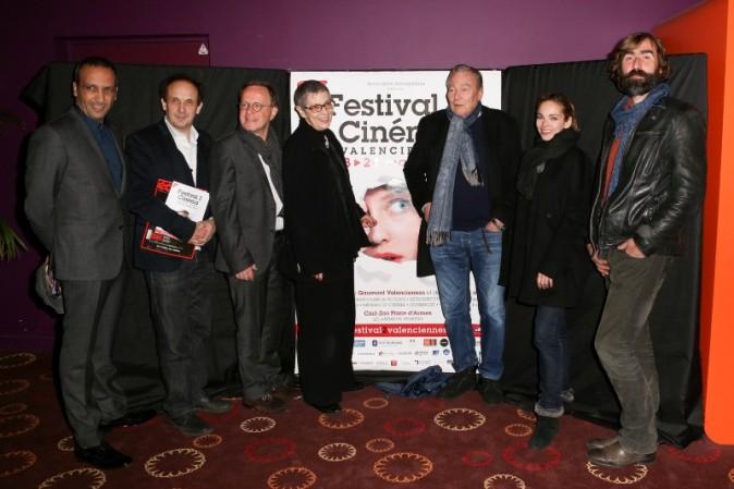Abdel Raouf Dafri, Yannick Kergoat, François Margolin, Françoise Vidhoff, Yves Boisset et Régis Sauder lors du Festival 2 Cinéma à Valenciennes...
