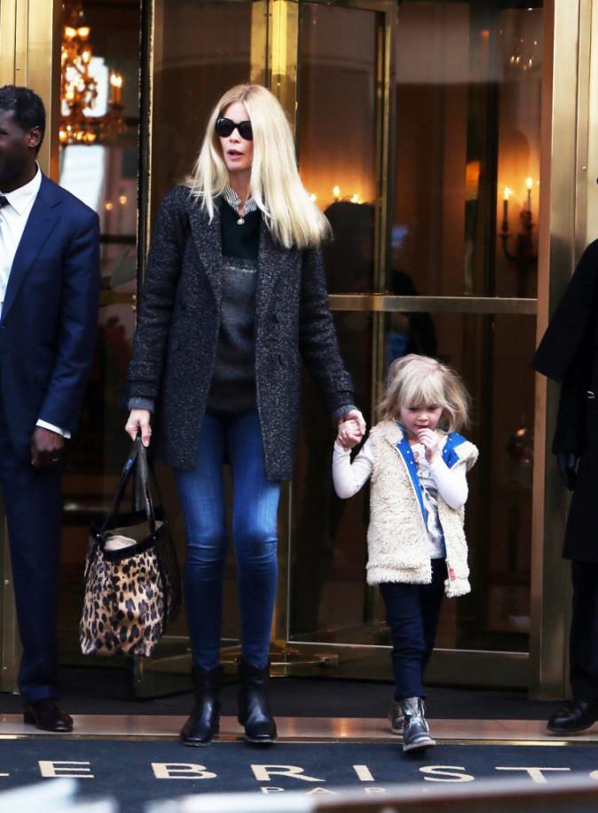 Claudia Schiffer et sa fille Cosima