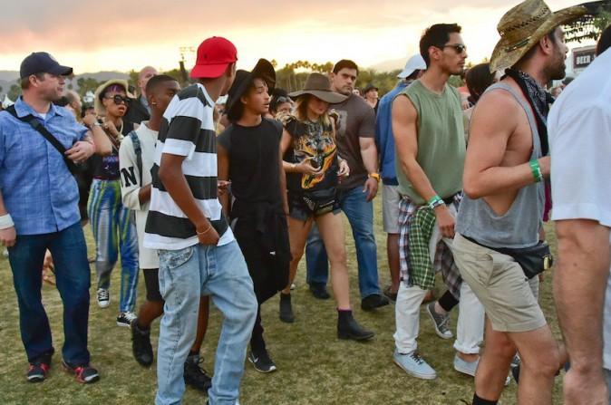 Jaden Smith et Kylie Jenner main dans la main - Coachella Jour 1