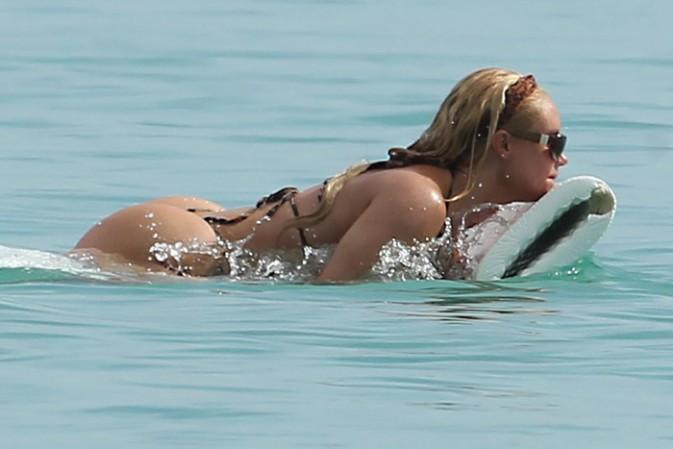 Coco Austin à la Barbade avec son mari Ice T le 31 août 2014