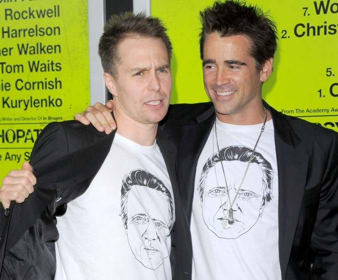 Colin Farrell à Los Angeles hier pour l'avant-première de Seven Psychopaths !