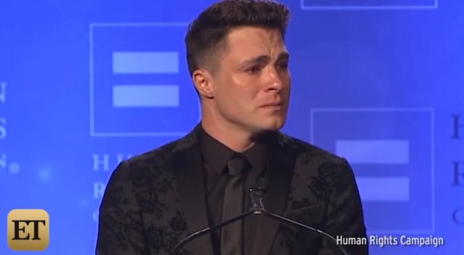 Photos : Colton Haynes en larmes reçoit le Visibility Award après son coming-out