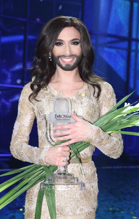 Conchita Wurst aujourd'hui, le jour de sa victoire à l'Eurovision