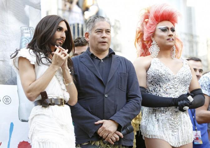 Conchita Wurst à la gay-pride de Madrid le 2 juillet 2014
