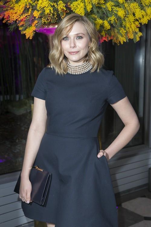 Elizabeth Olsen au dîner de la mode, à Paris, le 29 janvier 2015