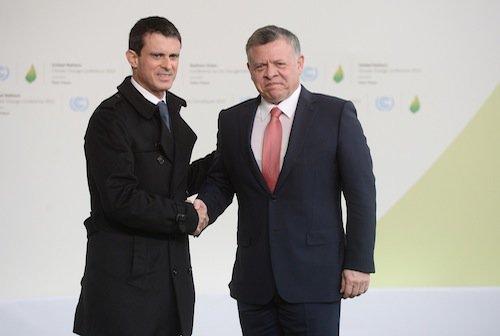 Manuel Valls et Abdallah II de Jordanie