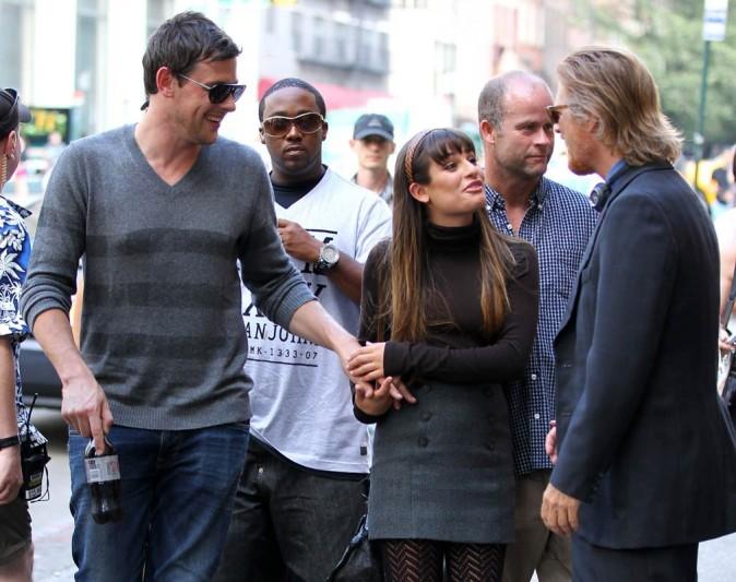 Cory Monteith rejoint Lea Michele sur le tournage de Glee