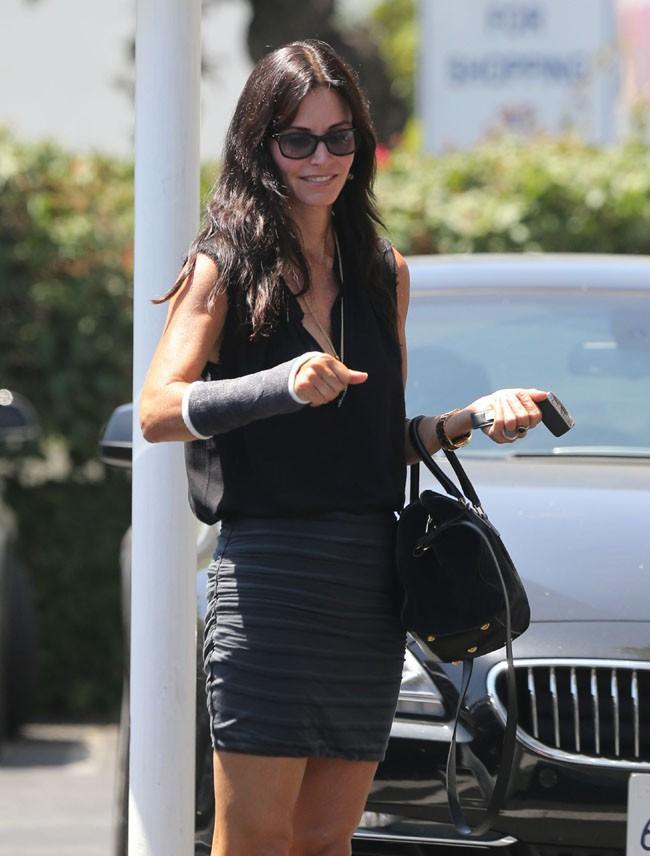 Courteney Cox à West Hollywood le 16 août 2013