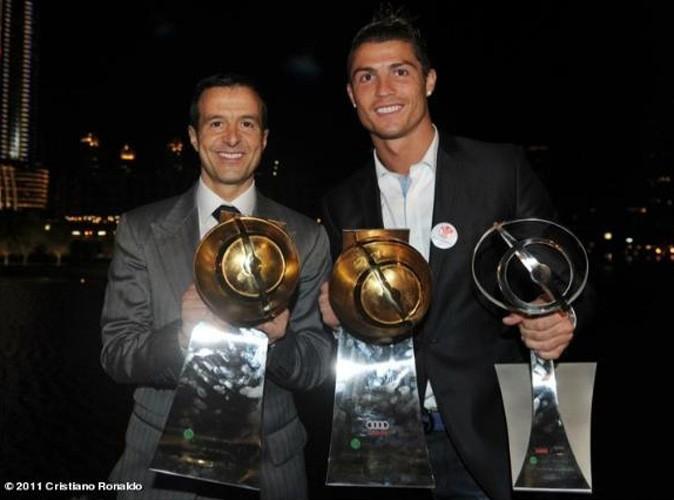 Cristiano Ronaldo lors de la soirée Globe Soccer Awards à Dubaï, le 28 décembre 2011.