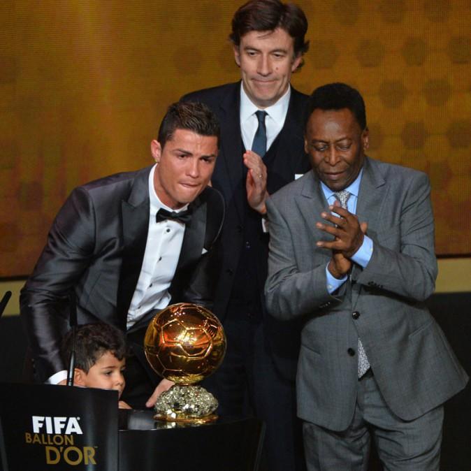 Cristiano Ronaldo à la cérémonie du Ballon d'Or 2013 organisée à Zurich le 13 janvier 2013