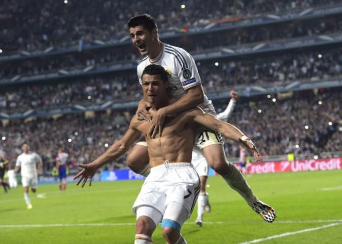 Cristiano Ronaldo à Lisbonne pour la finale de la Ligue des Champions le 24 mai 2014