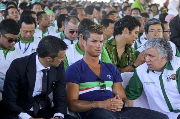 Cristiano Ronaldo s'intéresse à l'écologie à Bali