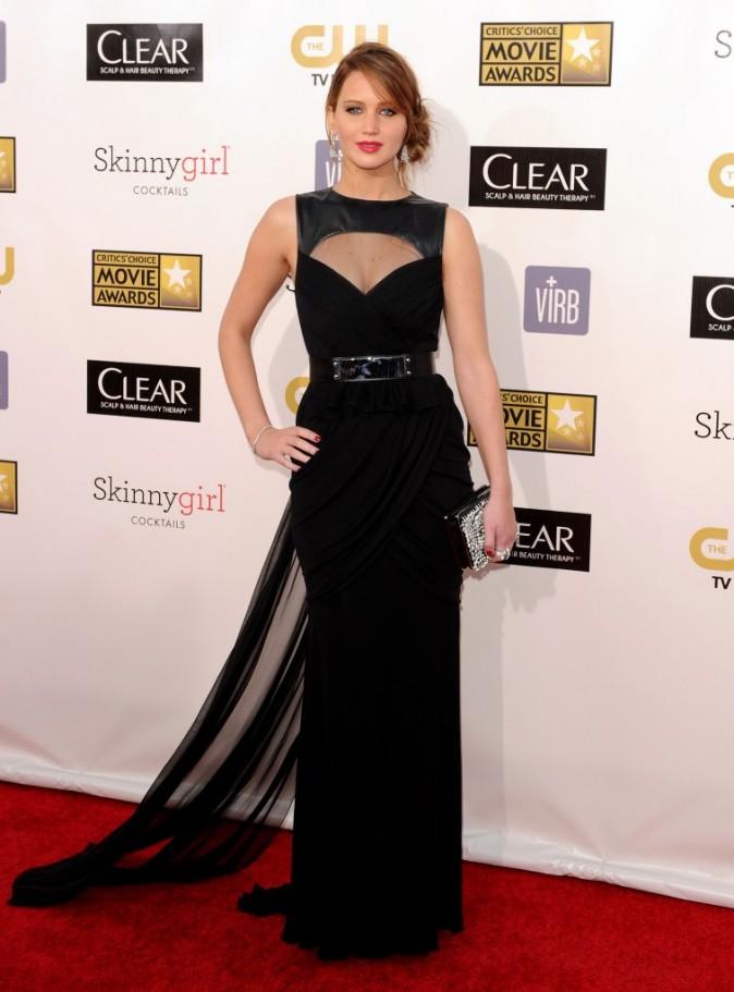 Jennifer Lawrence lors des Critics' Choice Awards à Santa Monica, le 10 janvier 2013.