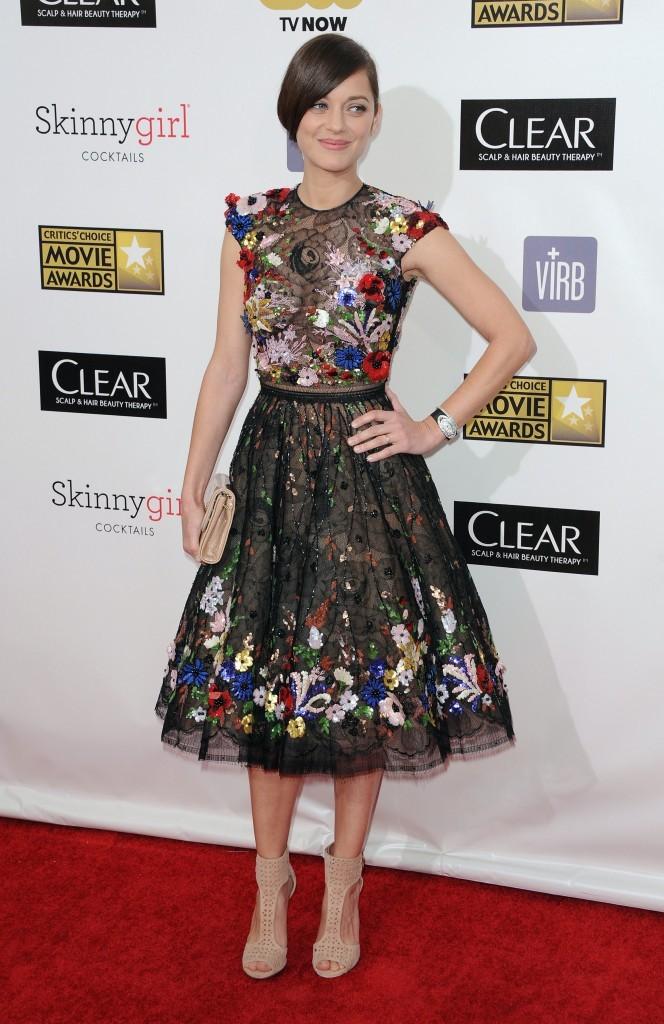 Marion Cotillard lors des Critics' Choice Awards à Santa Monica, le 10 janvier 2013.