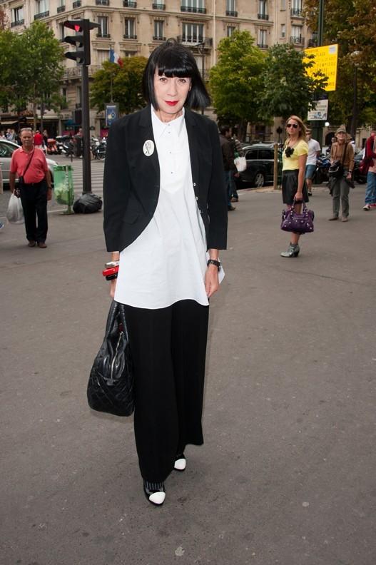 Chantal Thomass lors du défilé Elie Saab à Paris, le 6 juillet 2011.