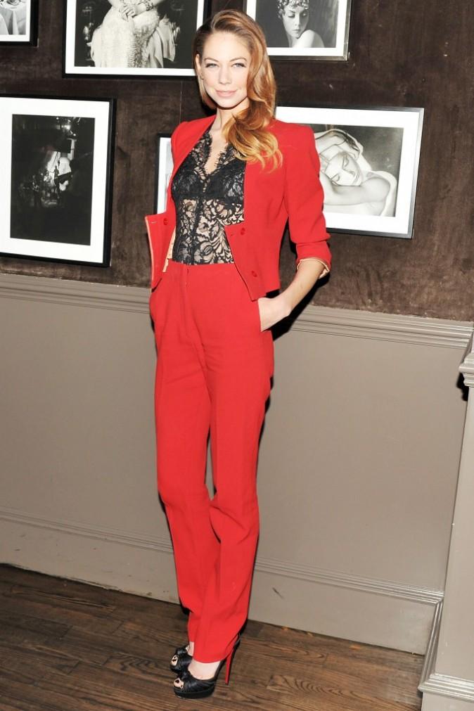 Analeigh Tipton lors du diner Elie Saab à New York, le 5 avril 2012.
